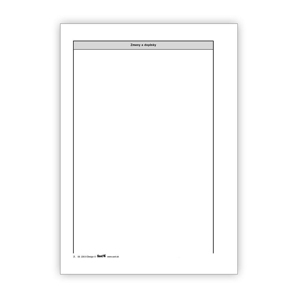 Stavebný denník - 66 listov