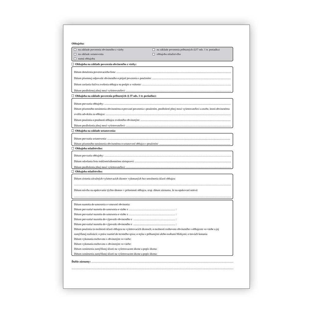 Klientsky spis advokáta - 20 mm chrbát/20 ks