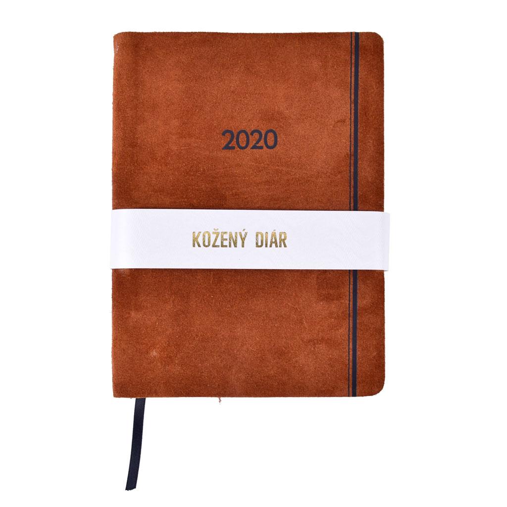 Denný diár 2020 / A5 (148x210 mm), koža