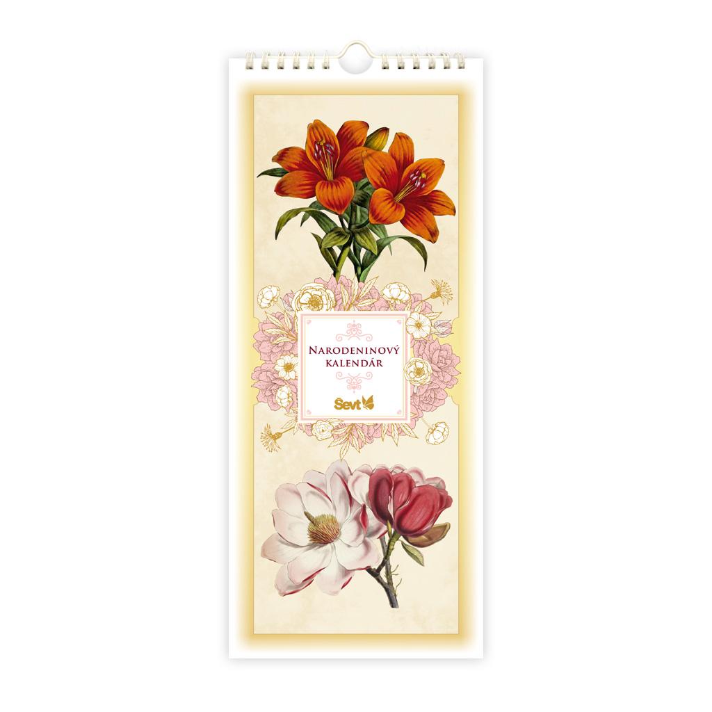 Narodeninový kalendár Vintage flowers