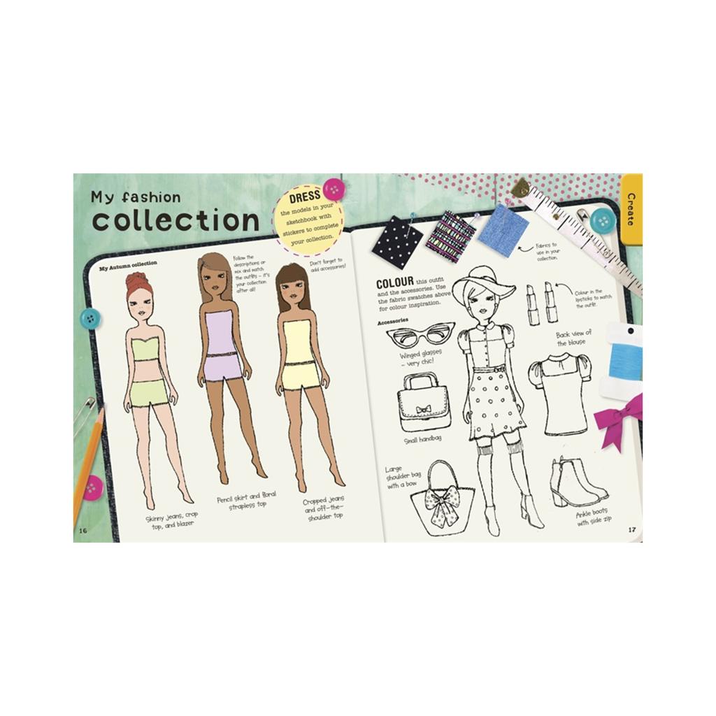 "Kniha so zábavnými aktivitami ""Ultimate Factivity Collection: Fashion"""