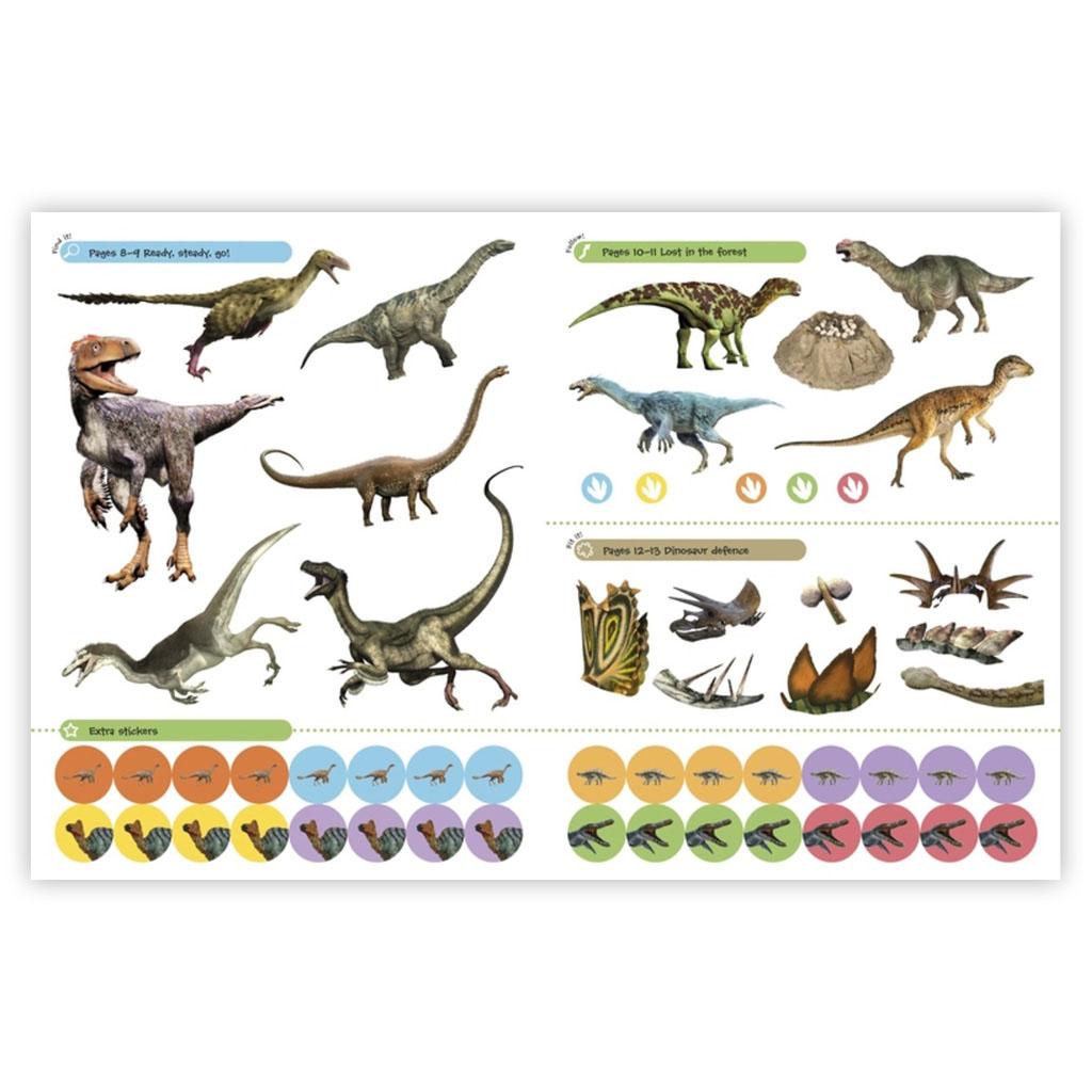 "Kniha s nálepkami ""Dinosaurs Ultimate Sticker Book"""