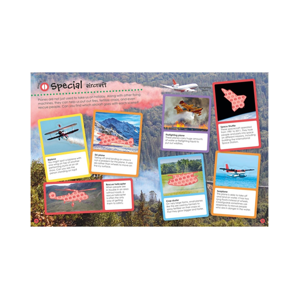 "Kniha s nálepkami ""Planes and Other Flying Machines Ultimate Sticker Book"""