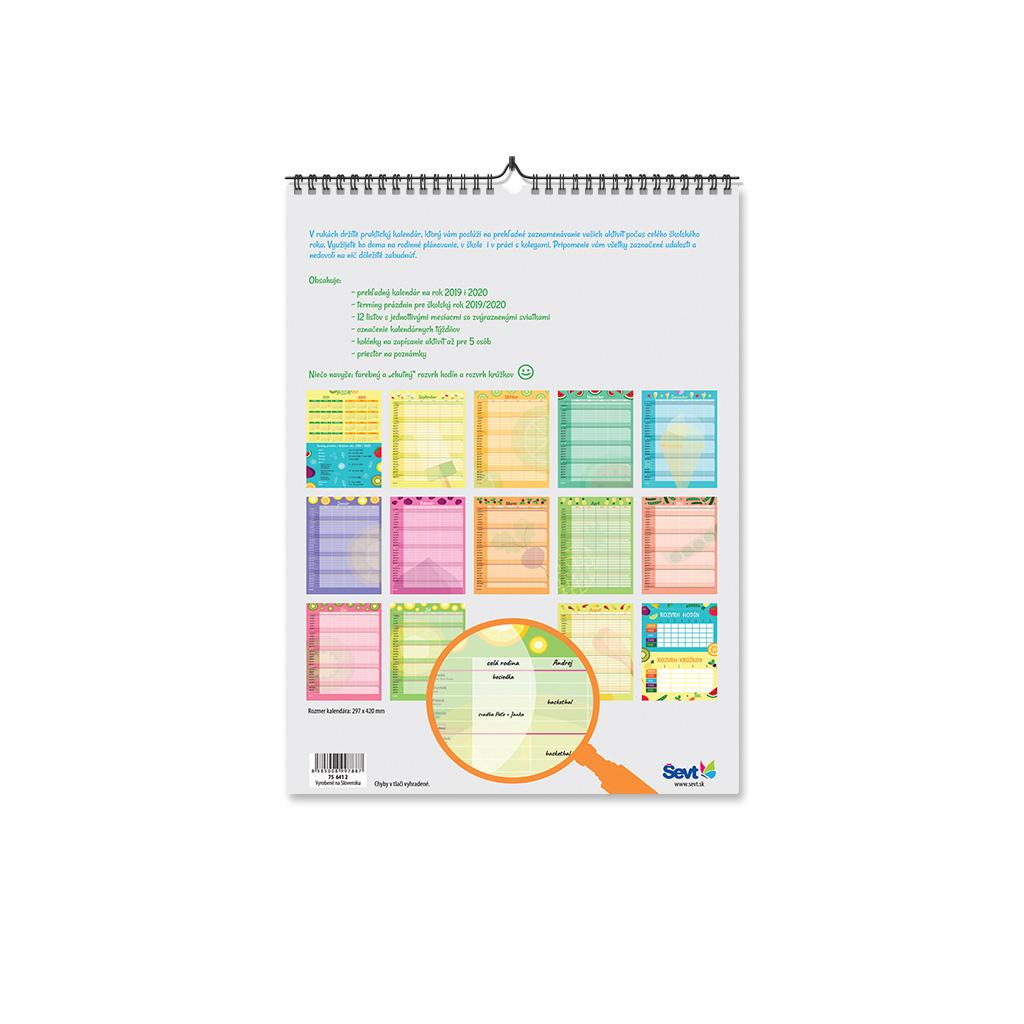 Plánovací kalendár 2019/2020 (297x420 mm) - Do školy s chuťou