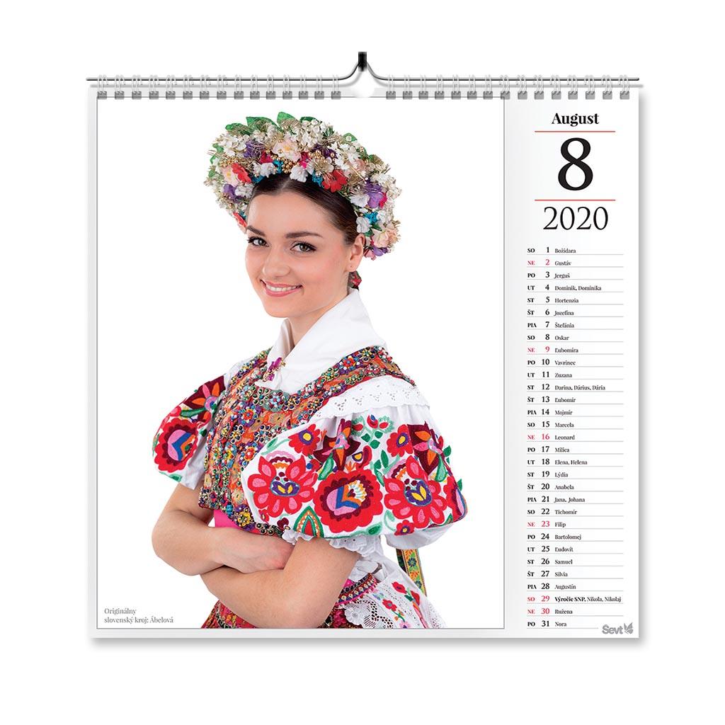 Krásy slovenských krojov 2020 (290x290 mm)