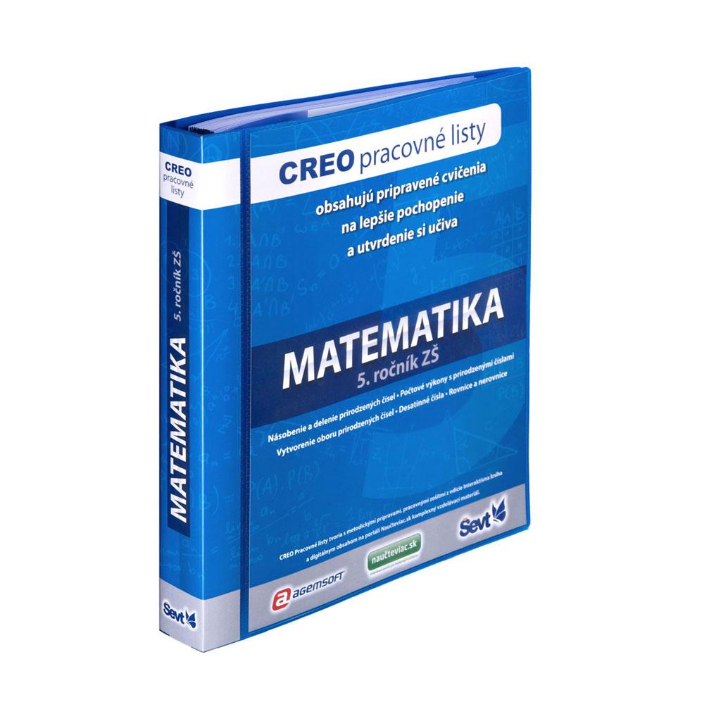CREO Matematika pre 5. ročník + popisovače so stierkou / 2ks