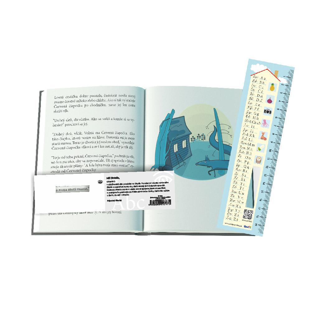 Záložka do knihy s abecedou a pravítkom, 3 v 1