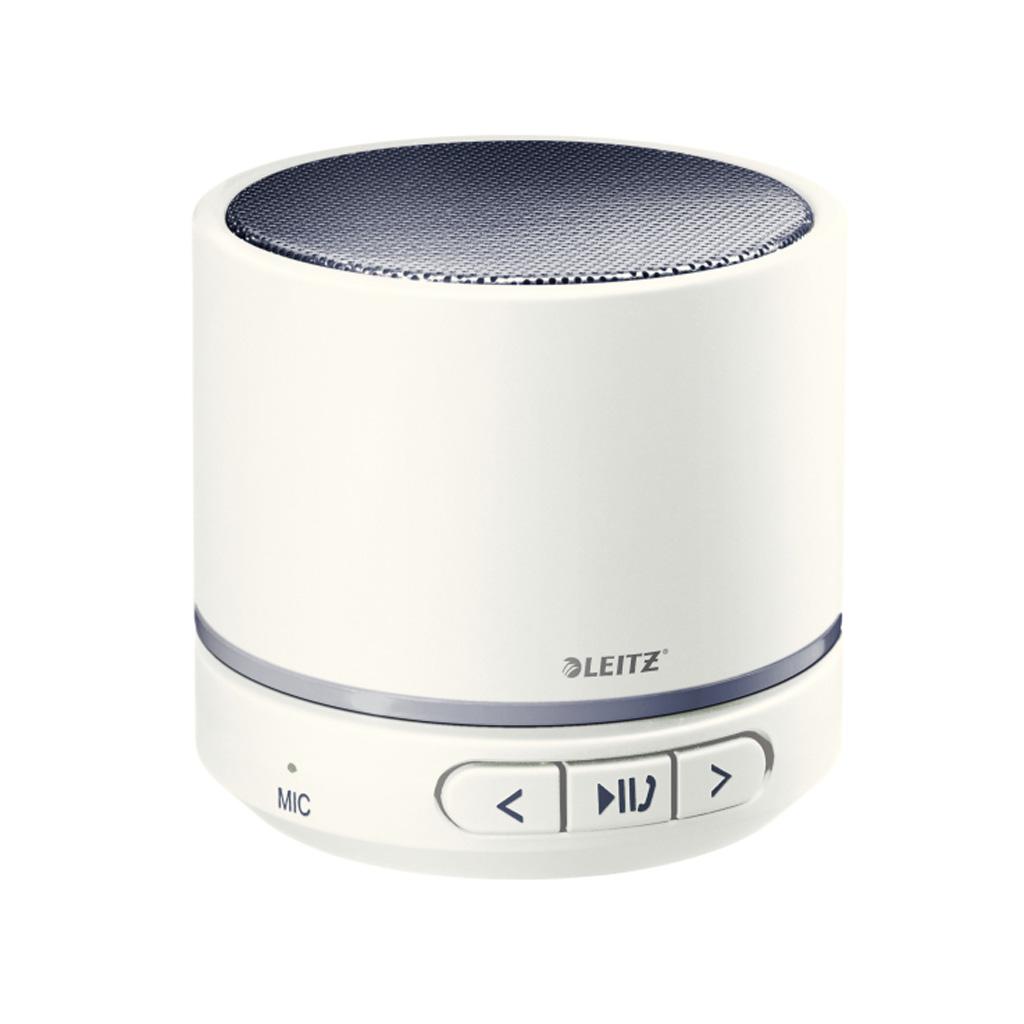 Leitz WOW Prenosný Mini Bluetooth reproduktor s mikrofónom, šedý