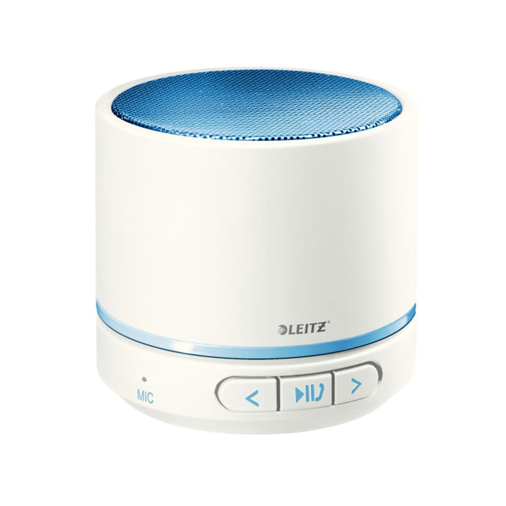 Leitz WOW Prenosný Mini Bluetooth reproduktor s mikrofónom, metalická modrá
