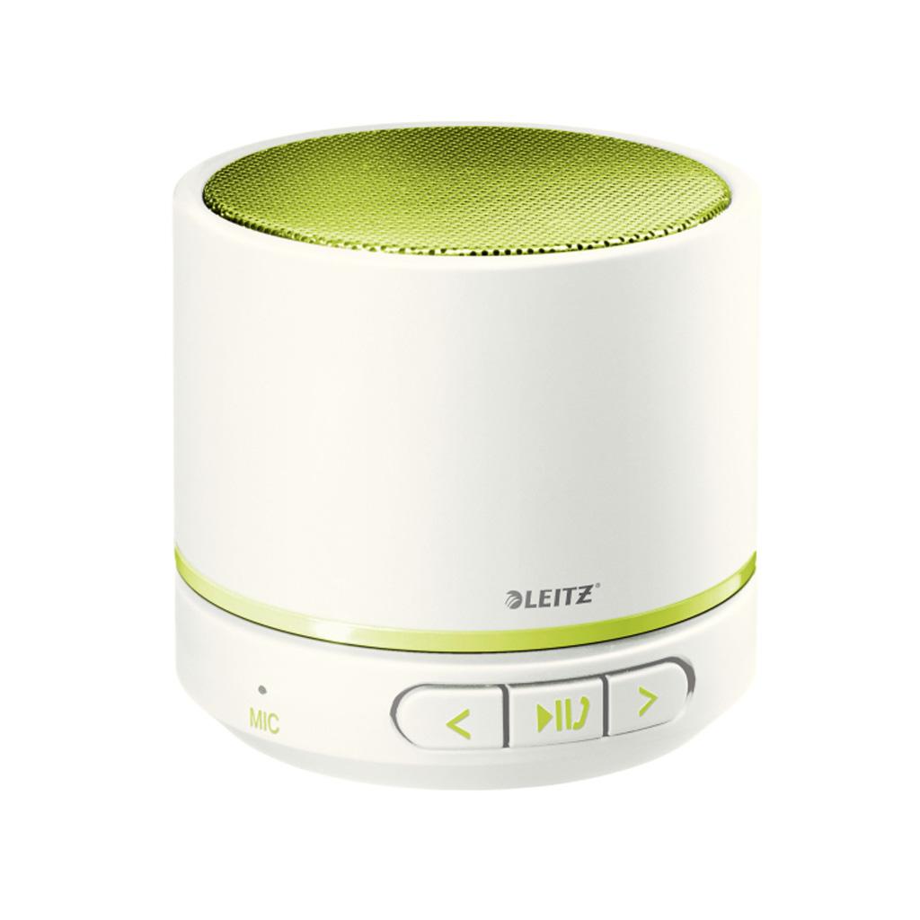 Leitz WOW Prenosný Mini Bluetooth reproduktor s mikrofónom, metalická zelená