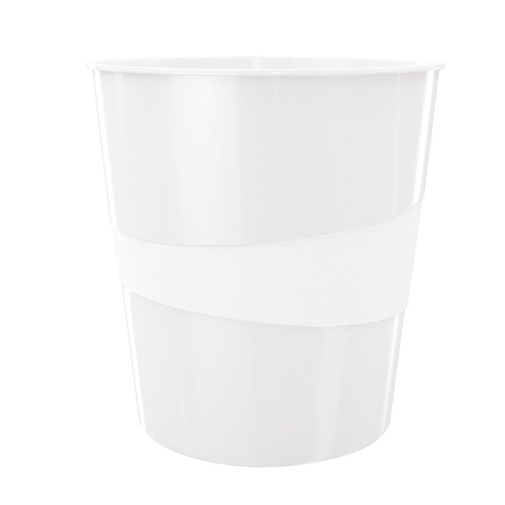 Leitz WOW Odpadkový kôš, 15l - perleťová biela