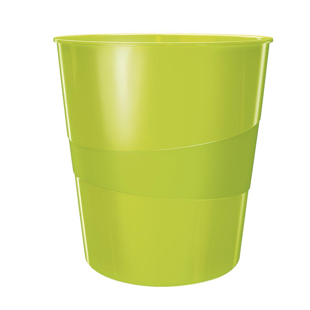 Leitz WOW Odpadkový kôš, 15l - metalická zelená