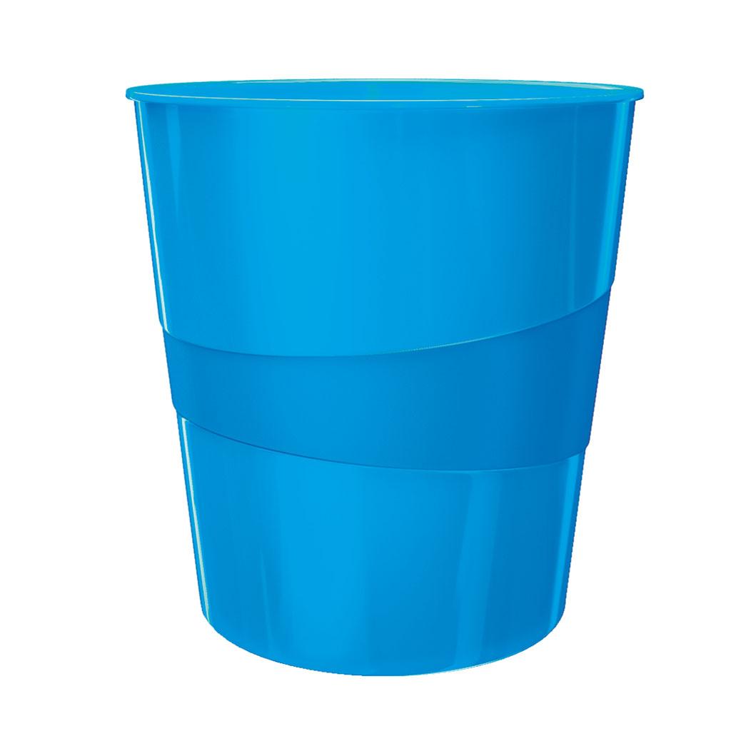 Leitz WOW Odpadkový kôš, 15l - metalická modrá