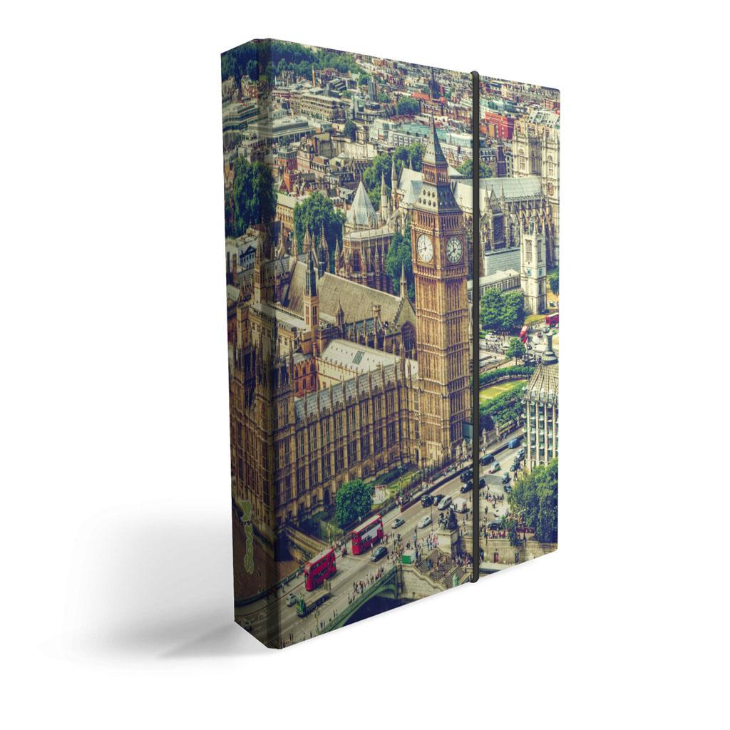 Dosky s boxom A4 lamino - Londýn