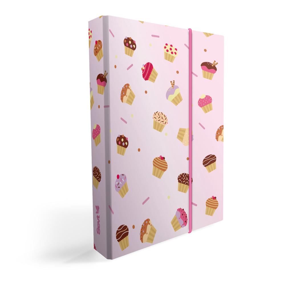 Dosky s boxom A5 lamino - muffiny