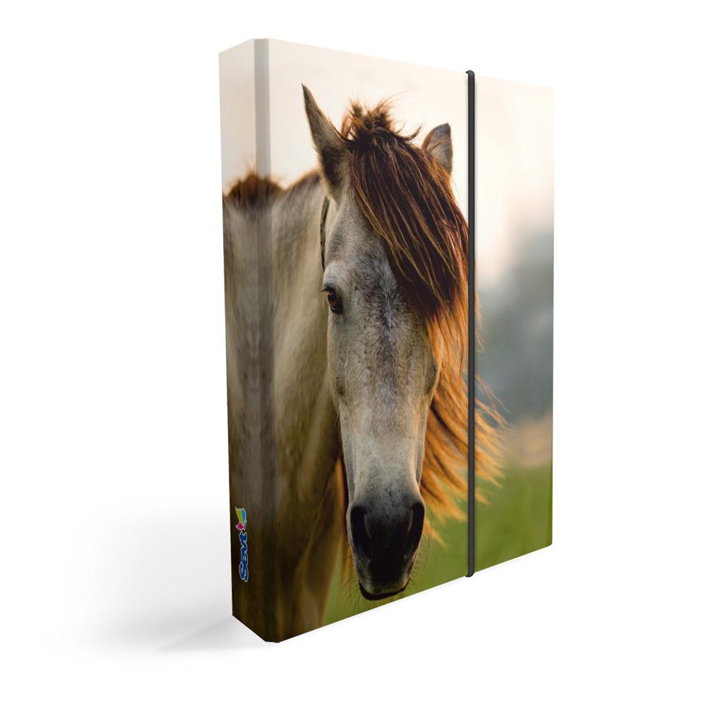 Dosky s boxom A5 lamino - kôň