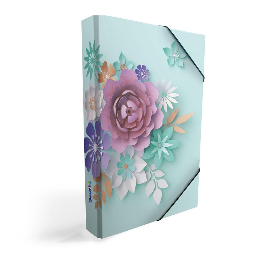 Dosky s boxom A5 lamino - 3D kvety 2019, UV