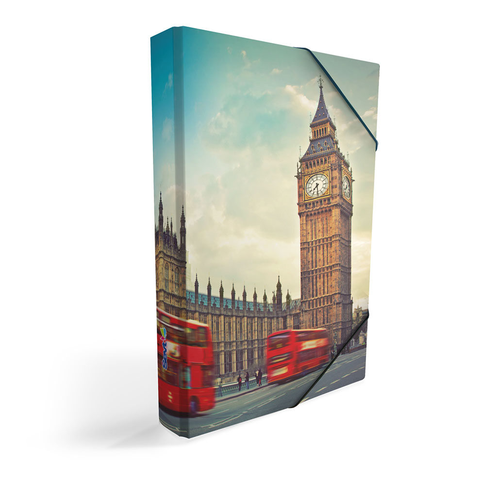 Dosky s boxom A5 lamino - Londýn 2019