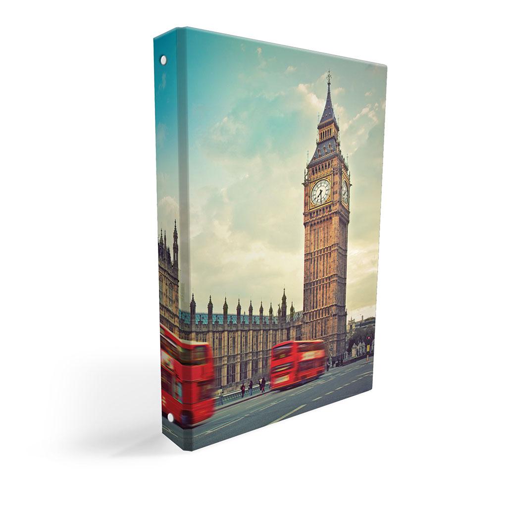 Karisblok 4-krúž., A4, 3,5 cm, lamino - Londýn 2019