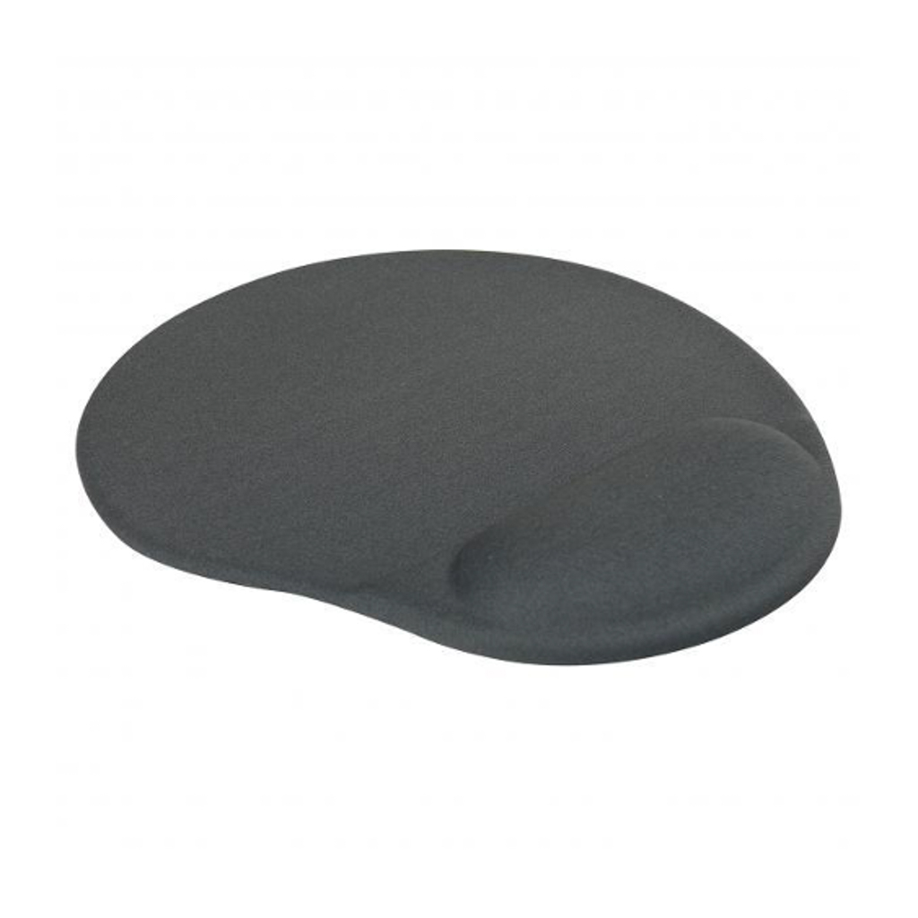 Podložka pod myš gelová 26x22x0,2cm, šedá/čierna