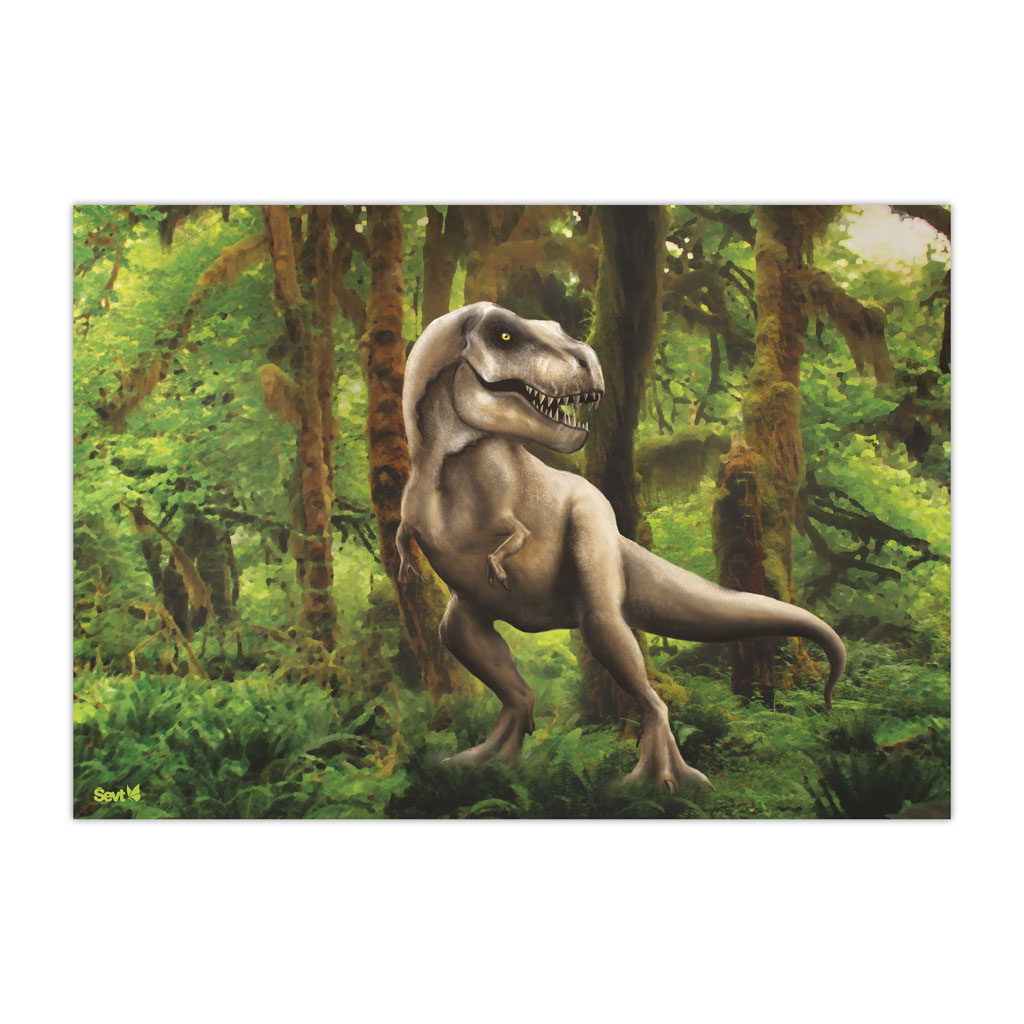 Plastová podložka na stôl 40x60, Dinosaurus