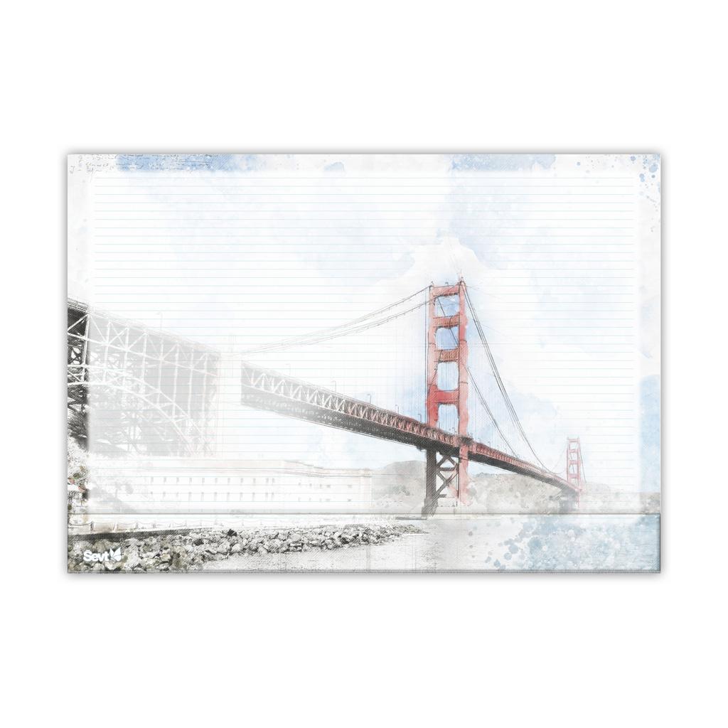 Podložka na stôl ŠEVT s plast. záložkou - Golden Gate Bridge