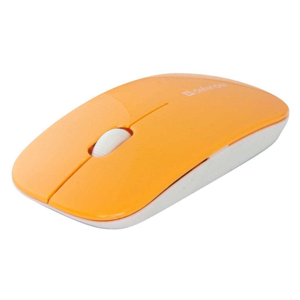 Myš Defender NetSprinter MM-545, optická, 3tl., 1 koliesko, bezdrôtová, oranžová, 1000DPI