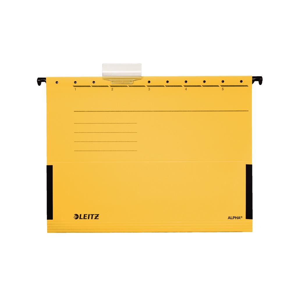 Leitz Alpha Obal závesný A4 s bočnicami,  žltá