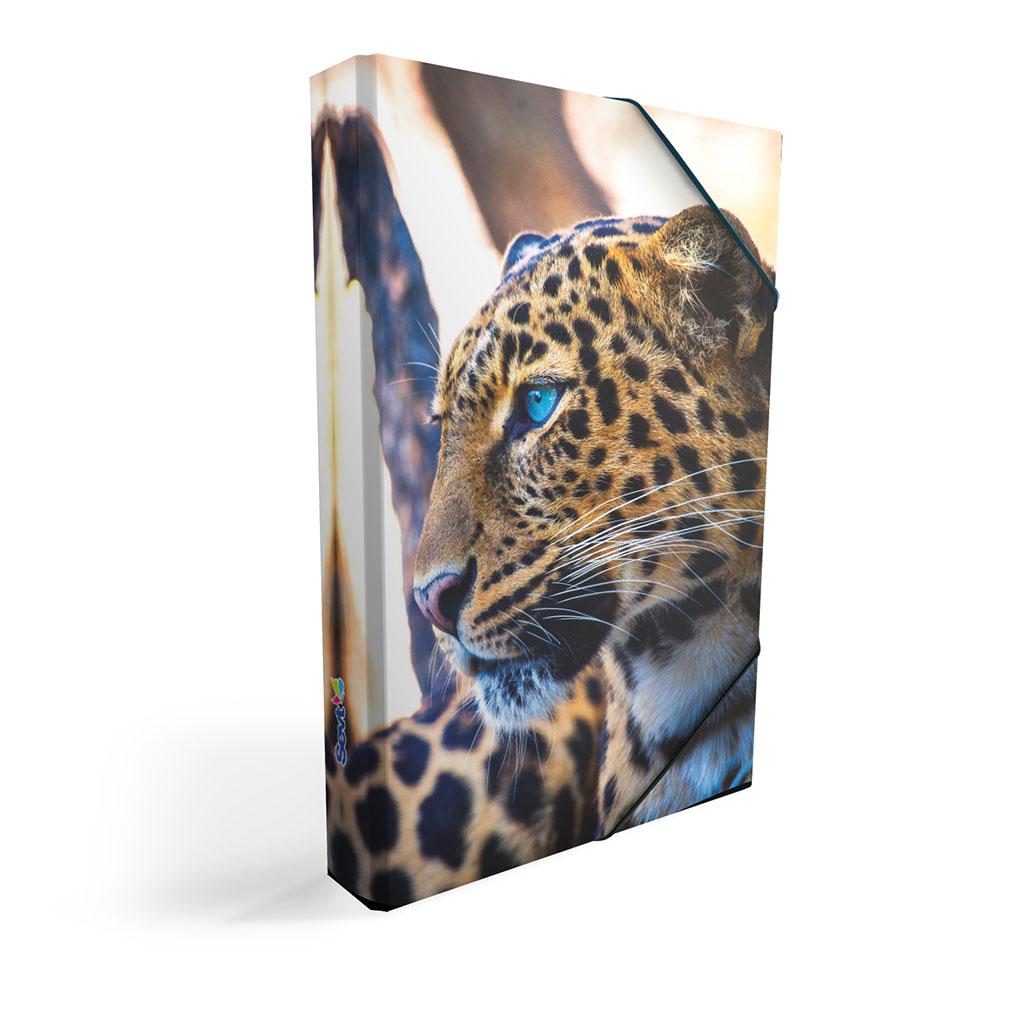 Dosky s boxom A4 lamino, zviera - leopard 2019