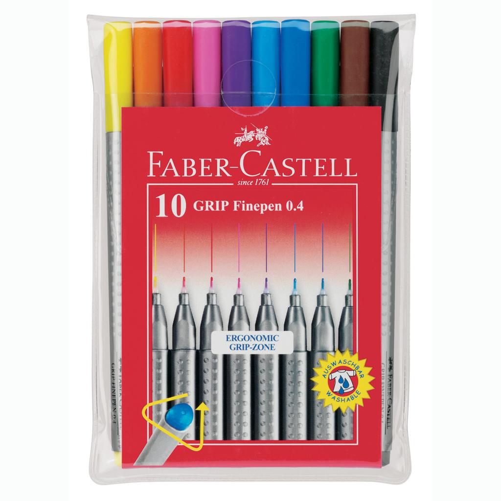 Faber Castell Popisovače Grip Finepen / 10 ks