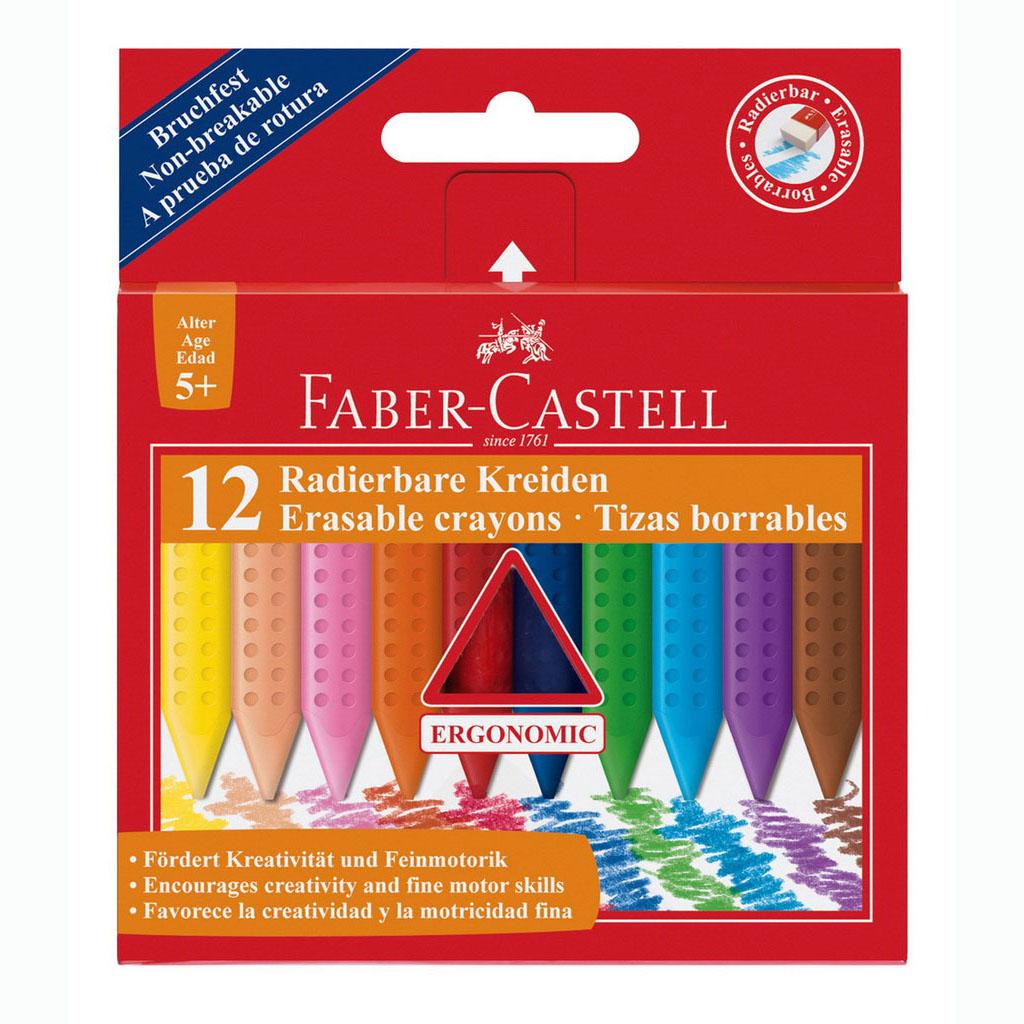Faber Castell Farbičky voskové Grip / 12 ks