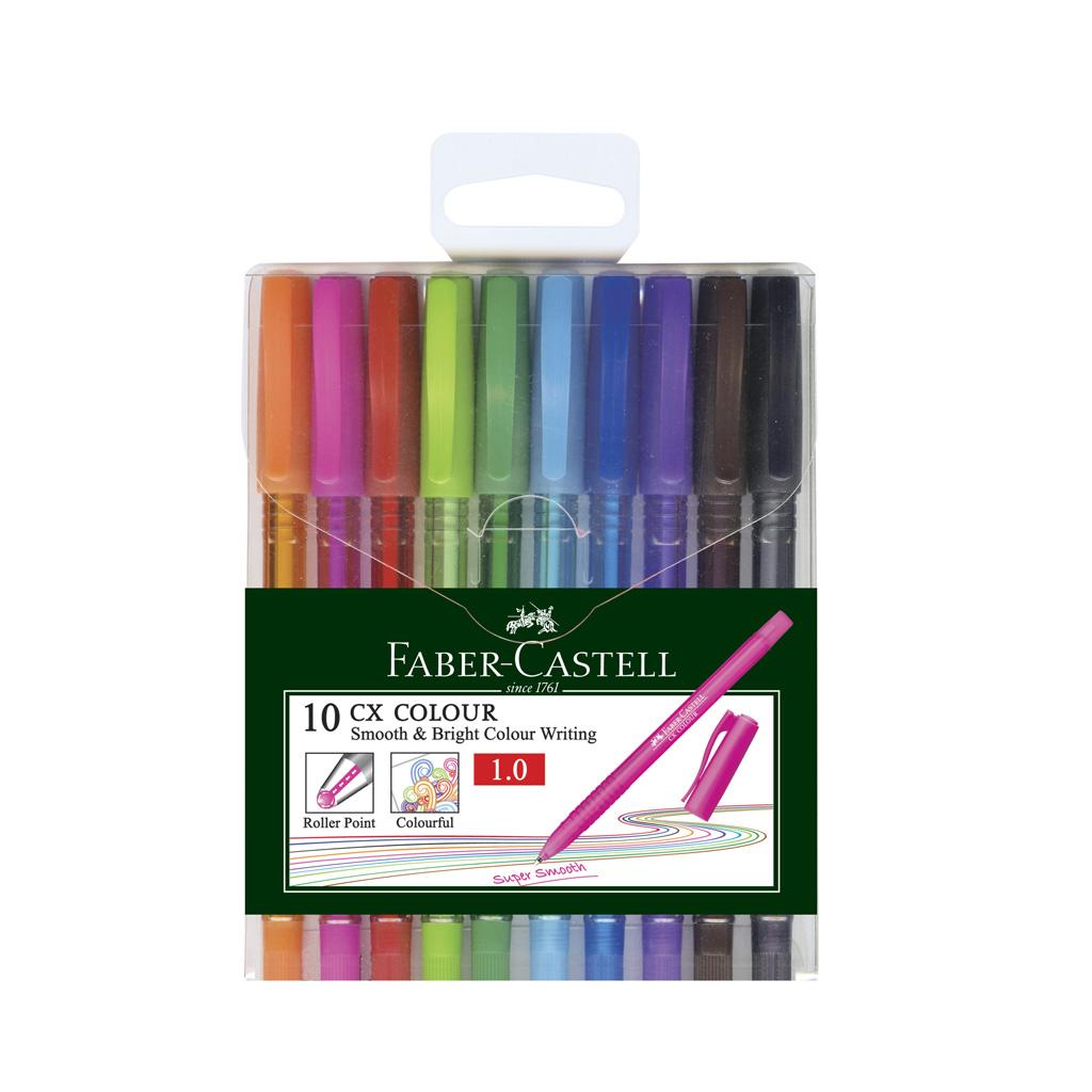 Faber Castell guľôčkové pero farebné, 1,0 mm / 10 ks