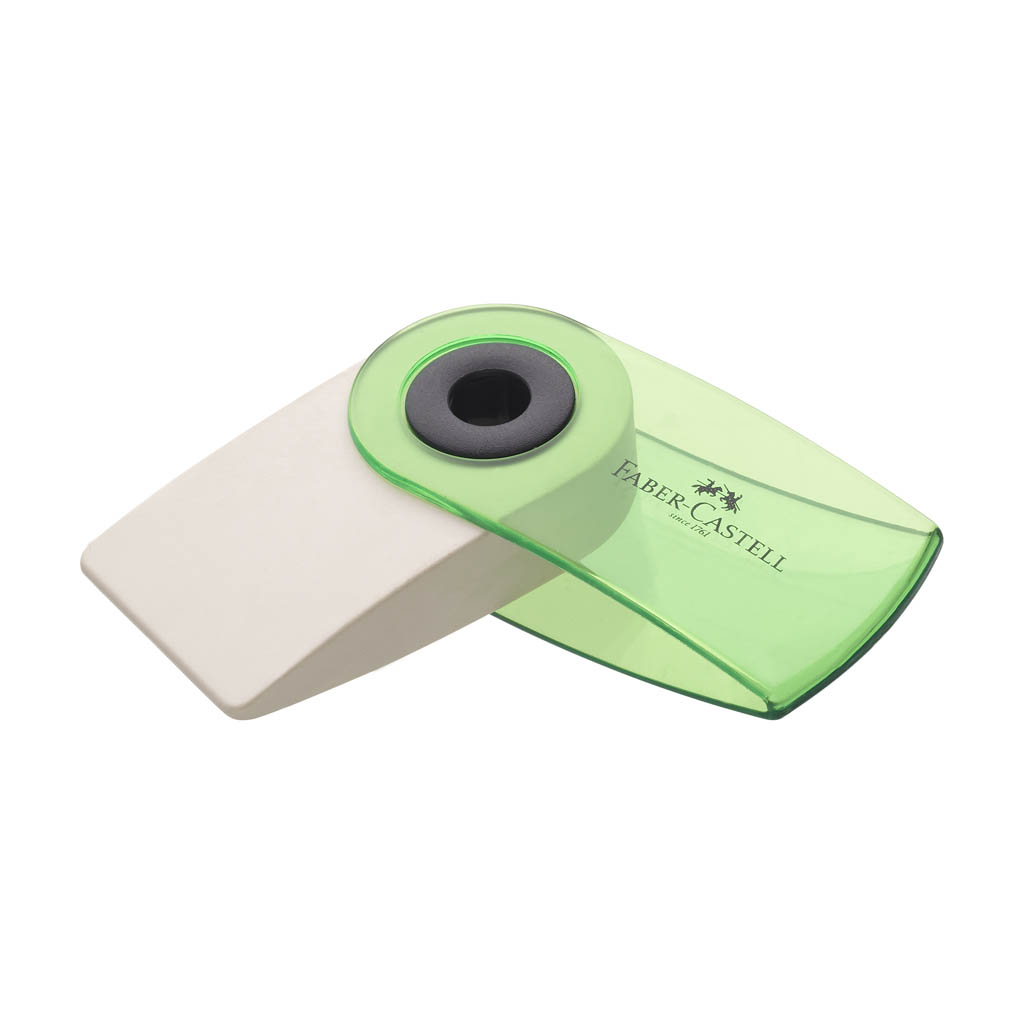 Faber Castell guma Sleeve mini transparentná, mix farieb