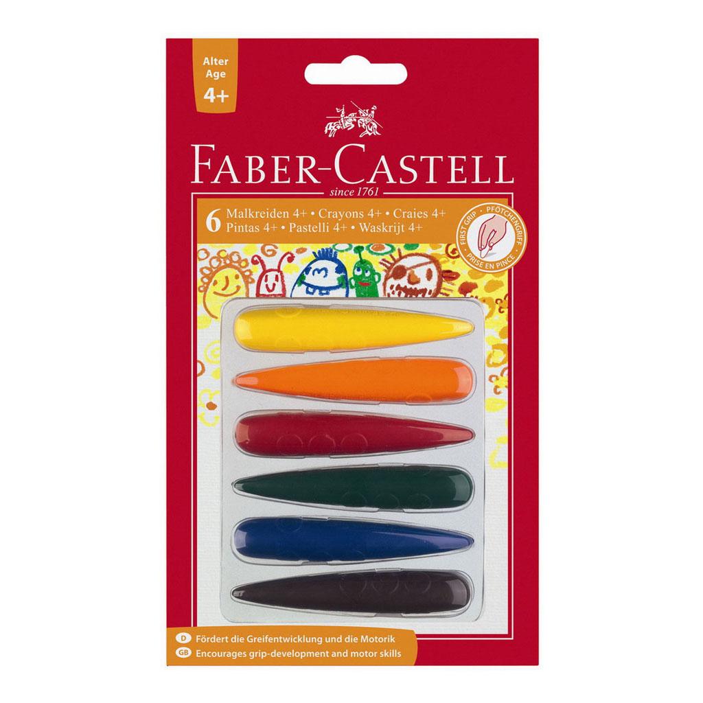 Faber Castell Farbičky voskové do dlane / 6 ks