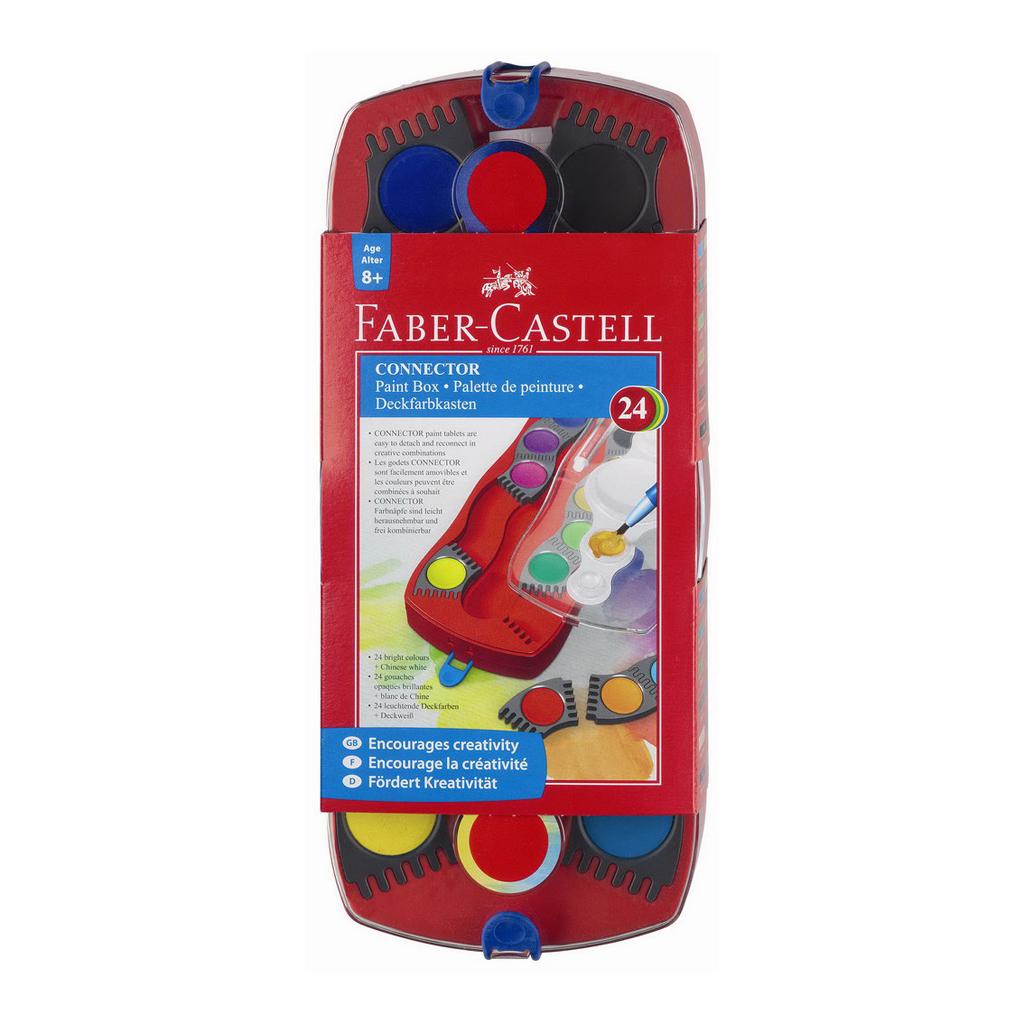 Faber Castell Farby vodové stavebnicové / 24 farieb, priemer 30 mm