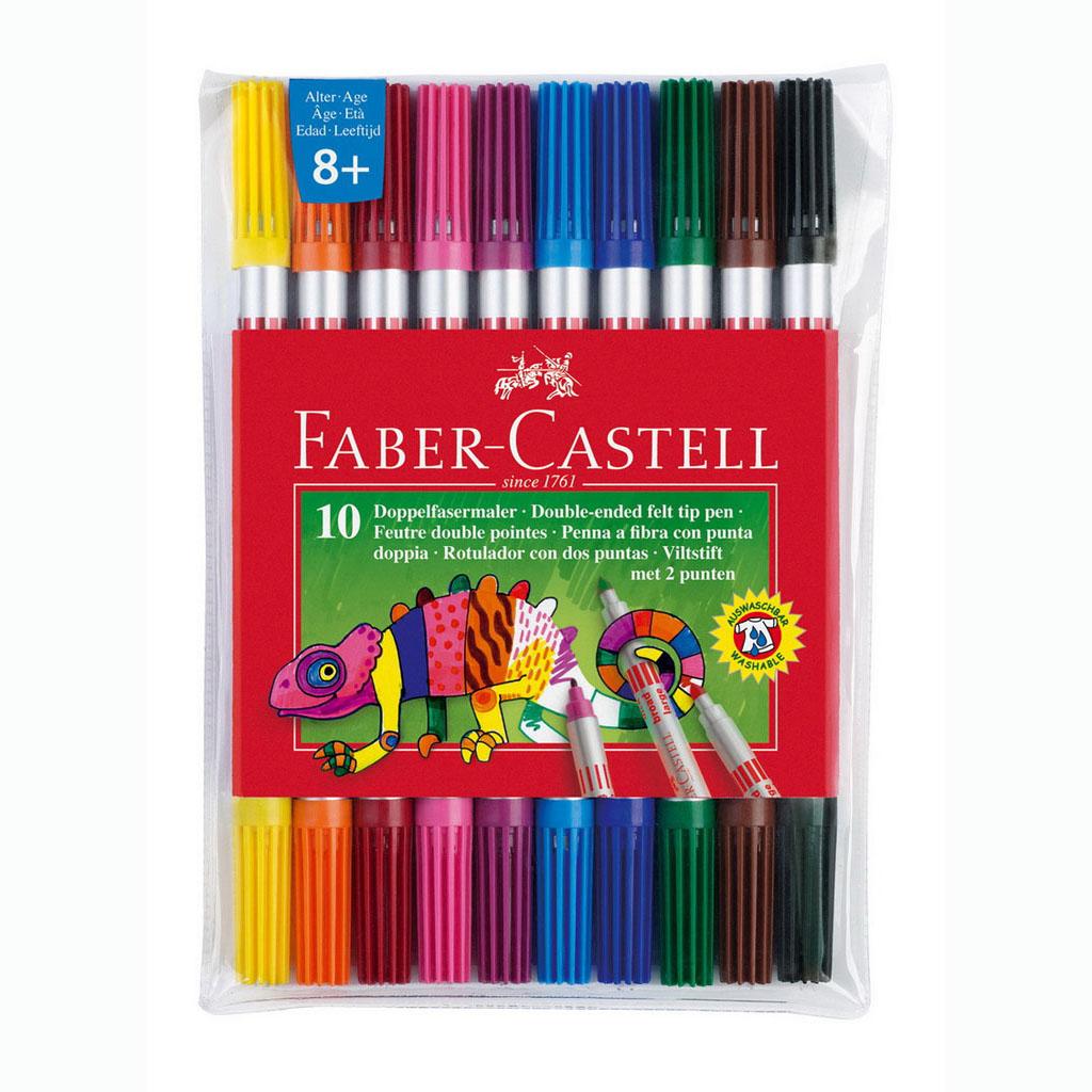 Faber Castell Fixky Fibre-Tip, obojstranné / 10ks