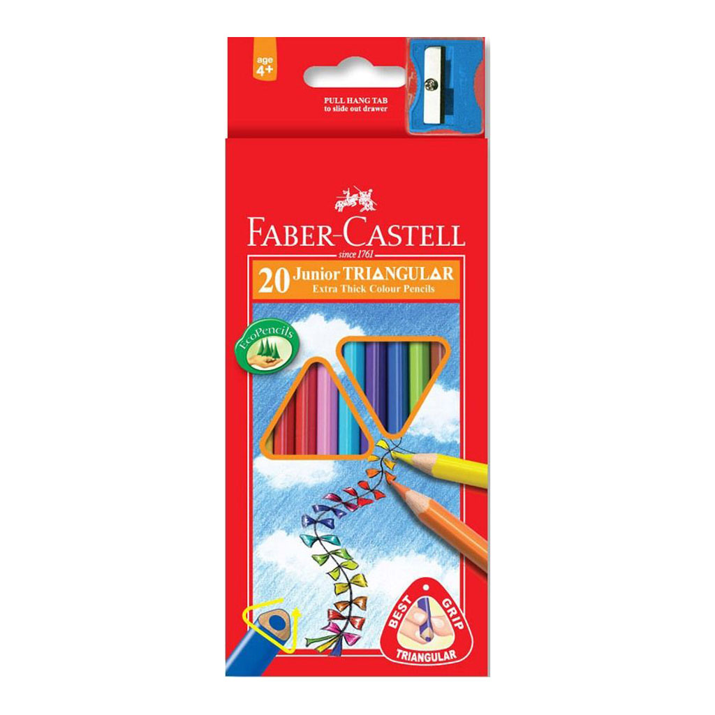 Faber Castell Farbičky trojhranné Junior / 20ks so strúhadlom