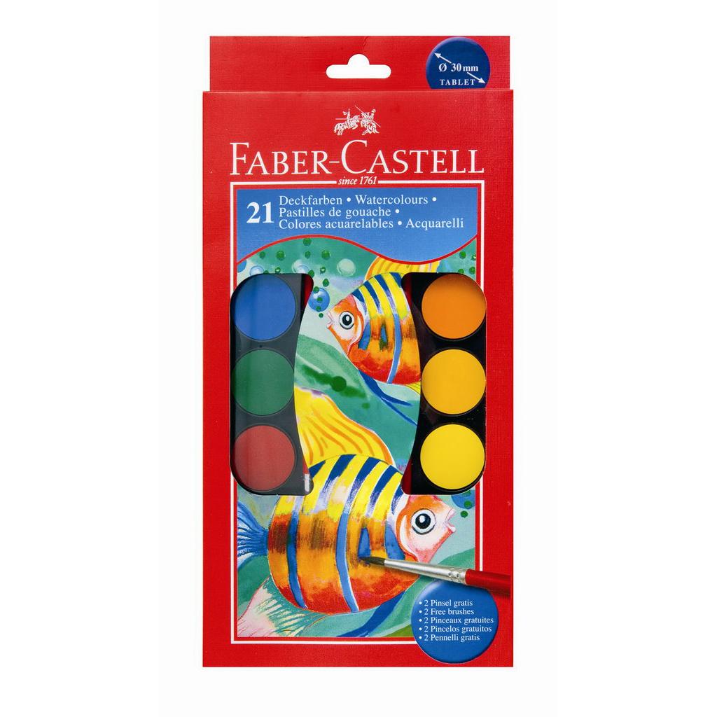 Faber Castell Farby vodové / 21 farieb, priemer 30 mm