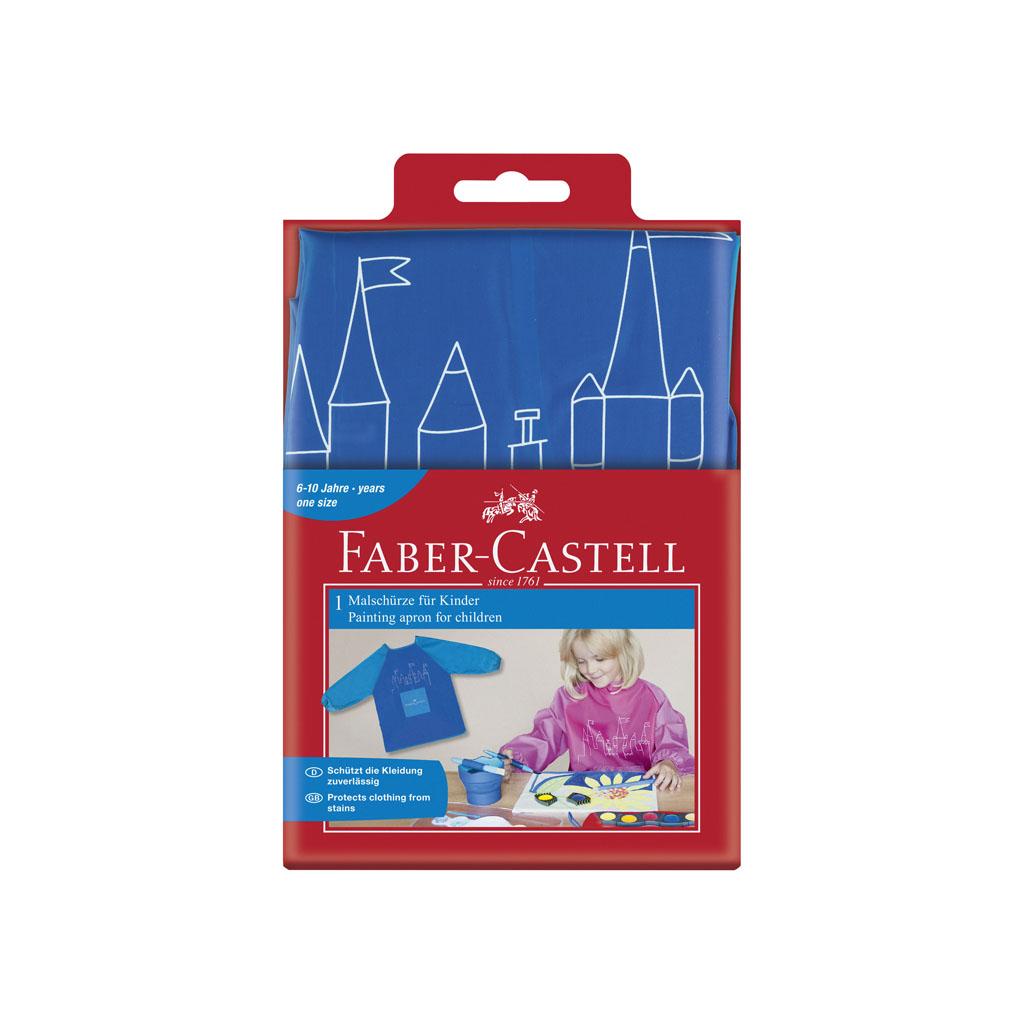 Faber Castell zástera na maľovanie modrá