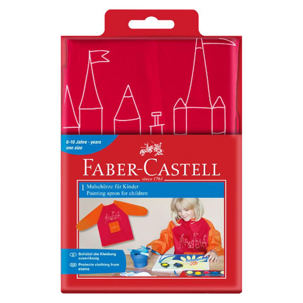 Faber Castell zástera na maľovanie malinová