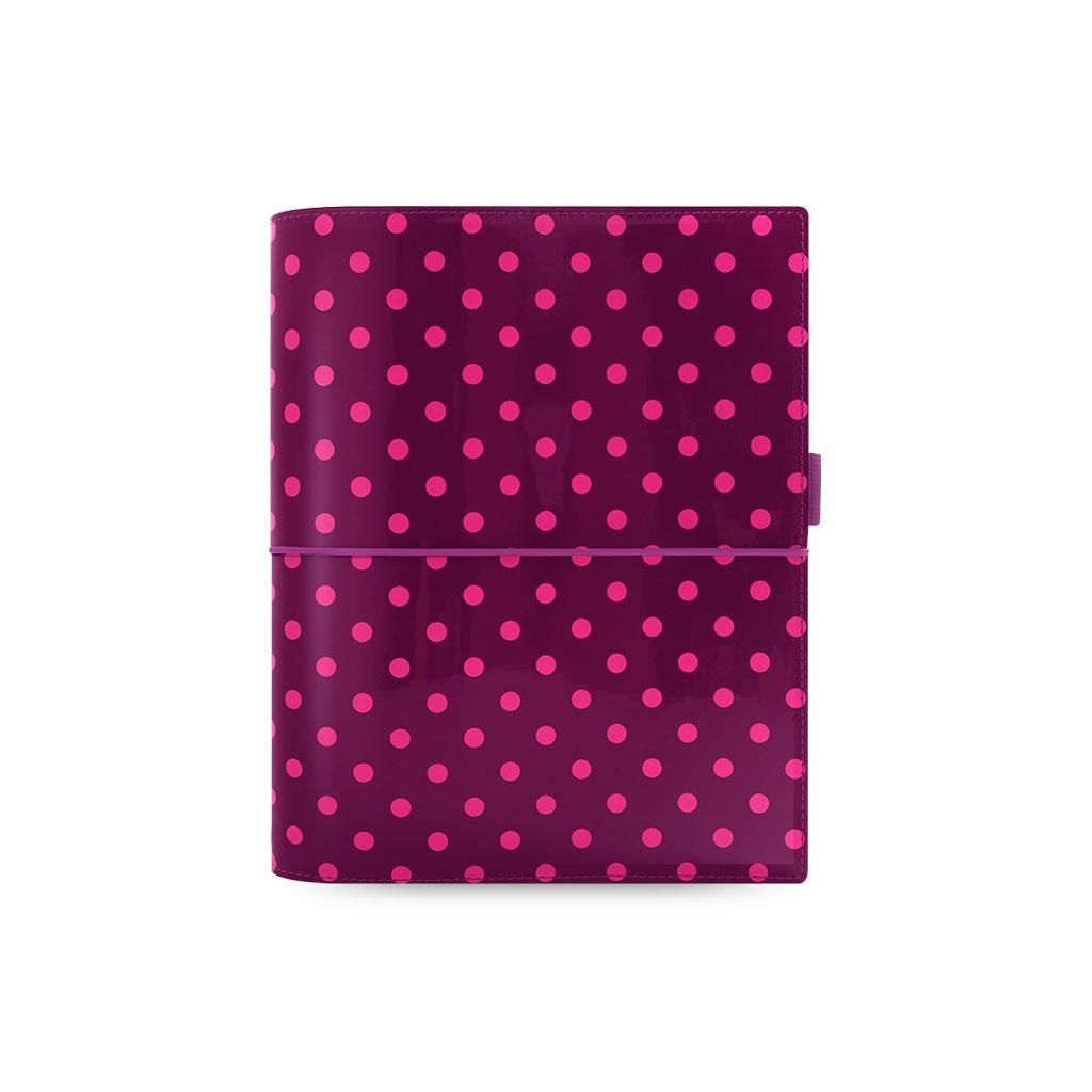 Organizér Filofax Domino Patent A5 / 022521 - ružové guľ.