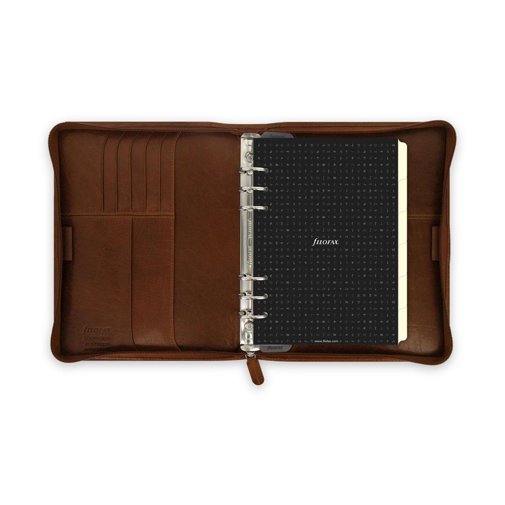 Organizér so zips. Filofax Lockwood A5 / 21693 - hnedý