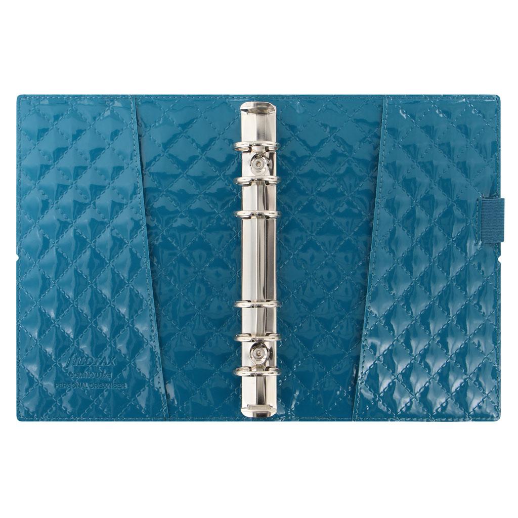Organizér Filofax Domino Luxe A6 / 027990 - modro-zelený