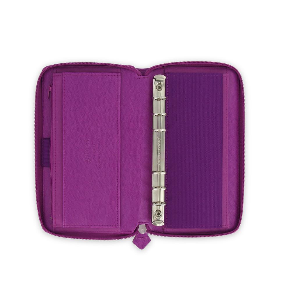 Organizér so zips. Filofax Saffiano A6 / 022535 - malinový