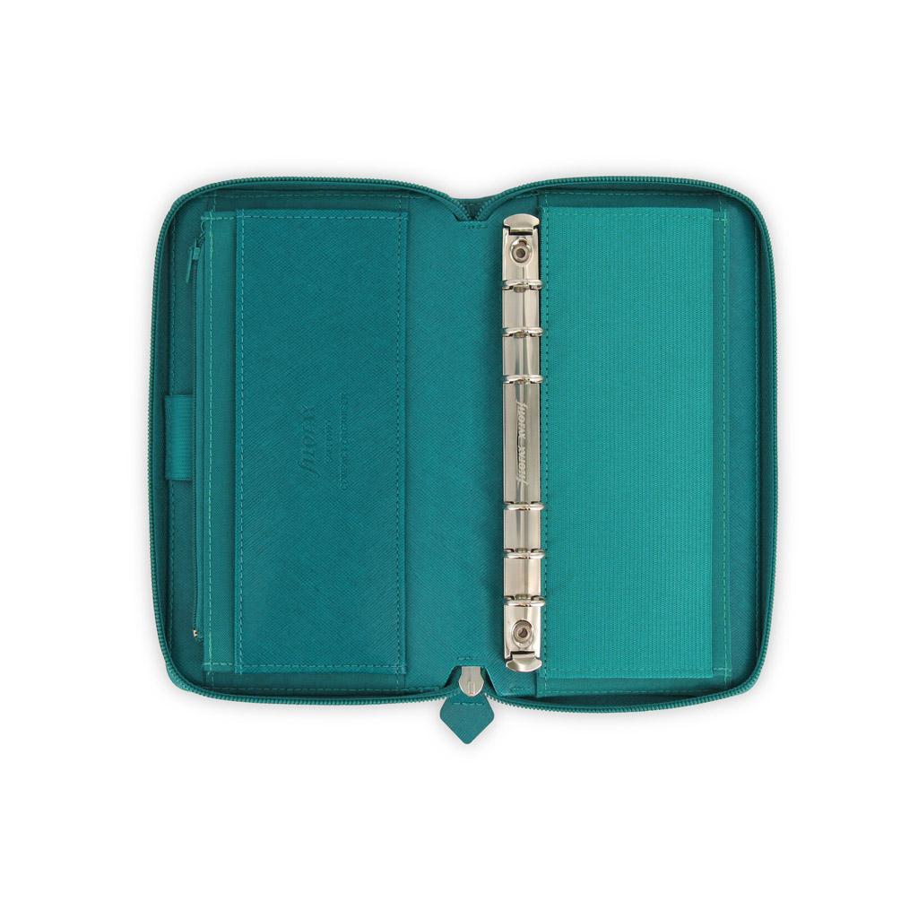 Organizér so zips. Filofax Saffiano A6 / 022536 - akvamarínový
