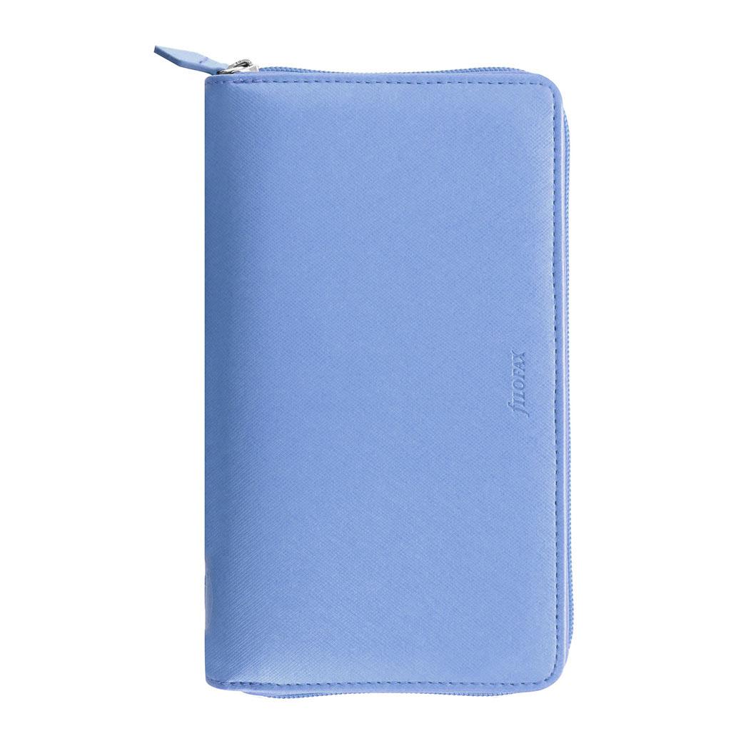 Organizér so zips. Filofax Saffiano A6 / 022592 - modrý