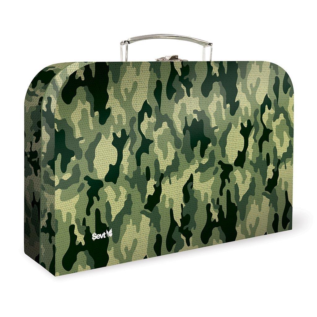 Detský kufrík veľký lamino - army