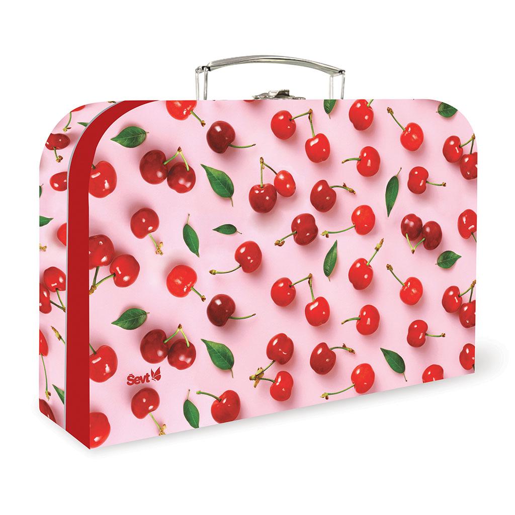 Detský kufrík veľký lamino, ovocie - čerešne 2019