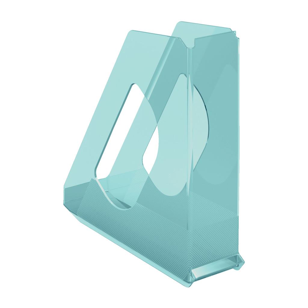 Esselte Colour'Ice Stojan na časopisy, modrá