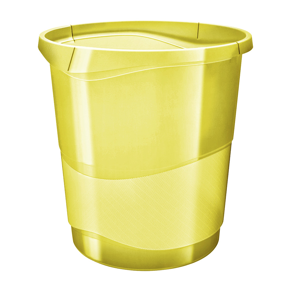 Esselte Colour'Ice Odpadkový kôš, 14l., žltá